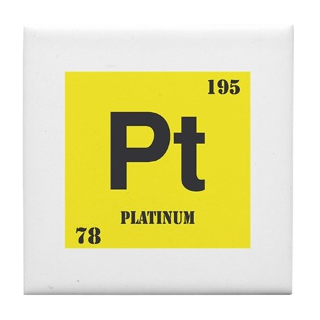 Platinum Element Tile Coaster
