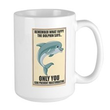 Fappy the Anti-Masturbation Dolphin Mug
