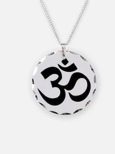 Black Om Necklace