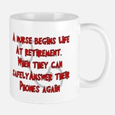 Retired Nurse RED Answer Phones Mugs