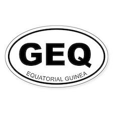 Equatorial Guinea Oval Decal