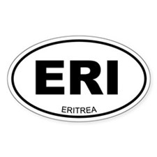 Eritrea Oval Decal