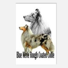 Cute Collie rough Postcards (Package of 8)