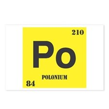 Polonium Element Postcards (Package of 8)