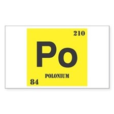 Polonium Element Rectangle Decal