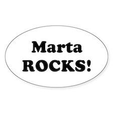 Marta Rocks! Oval Decal