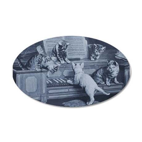 Kitty Tunes Wall Decal