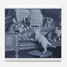 Kitty Tunes Tile Coaster