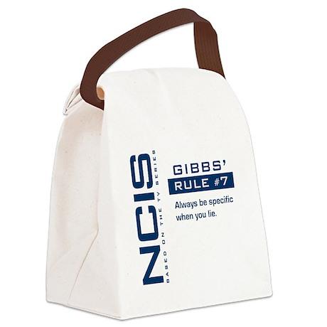 NCIS Gibbs' Rule #7 Canvas Lunch Bag