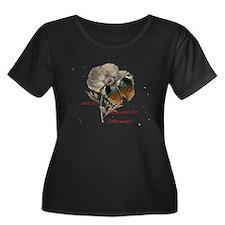 Butterfly, White Poppy and Haiku Plus Size T-Shirt