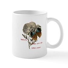 Butterfly, White Poppy and Haiku Mug