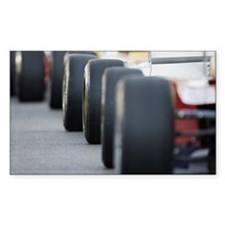 Formula racing cars lined up Decal
