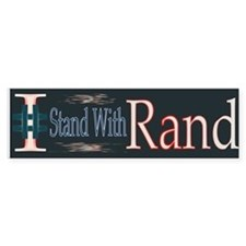 I # Stand With Rand Bumper Bumper Sticker