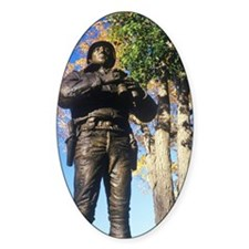 """Statue of George Patton, US Milita Decal"