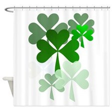 Faded Shamrocks-Trans Shower Curtain