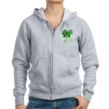 Faded Shamrocks-Trans Zip Hoodie