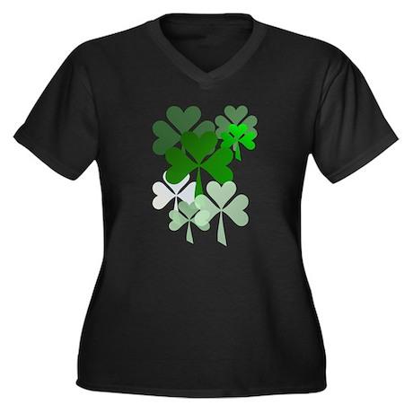 Faded Shamrocks-Trans Plus Size T-Shirt