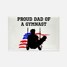 PROUD GYMNAST DAD Rectangle Magnet