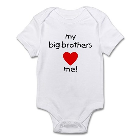 My big brothers love me Infant Bodysuit