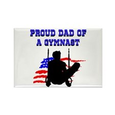 BEST GYMNAST DAD Rectangle Magnet
