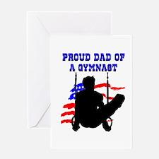 BEST GYMNAST DAD Greeting Card