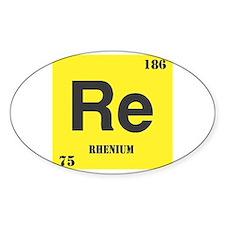 Rhenium Element Oval Decal