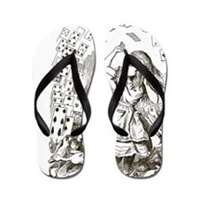 Alice in Wonderland Cards Flip Flops