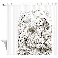 Alice in Wonderland Cards Shower Curtain