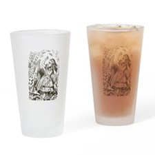 Alice in Wonderland Cards Drinking Glass