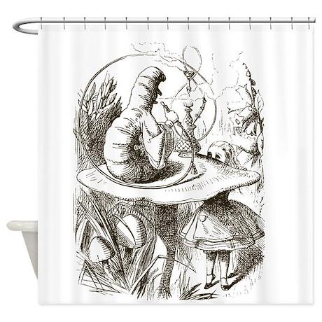Alice in Wonderland Caterpillar Shower Curtain