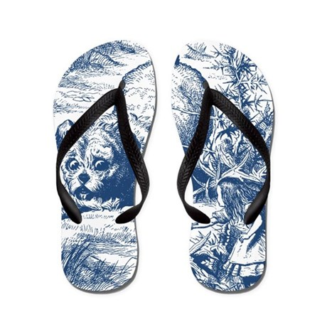 Alice in Wonderland Small Alice Flip Flops