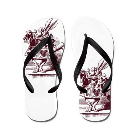 White Rabbit Flip Flops