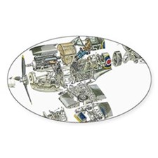 Disassembled parts of Spitfire plan Decal