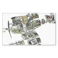Disassembled parts of Spitfire Decal