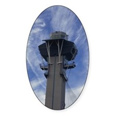 Low angle view of an air traffic co Decal