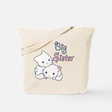 Cute Kitty Big Sister Tote Bag