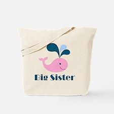 Cute Whale Big Sister Tote Bag