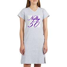 Cute Nifty 50 Women's Nightshirt
