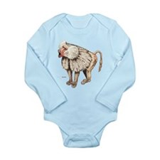 Baboon Ape Monkey Long Sleeve Infant Bodysuit