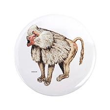 "Baboon Ape Monkey 3.5"" Button"