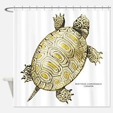 Northern Diamondback Turtle Shower Curtain
