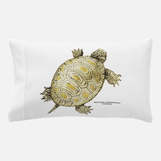 Northern Diamondback Turtle Pillow Case