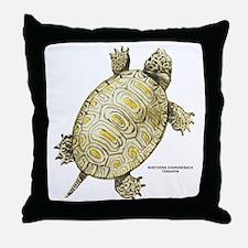 Northern Diamondback Turtle Throw Pillow