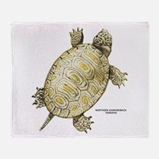 Northern Diamondback Turtle Throw Blanket