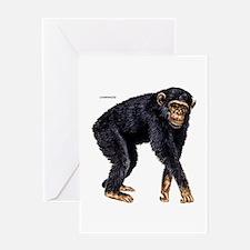 Chimpanzee Monkey Ape Greeting Card