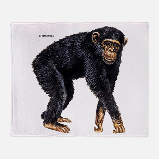 Chimpanzee Monkey Ape Throw Blanket