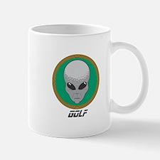 Golf Alien Head Mug