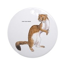 Long-Tailed Weasel Ornament (Round)