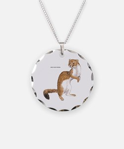 Long-Tailed Weasel Necklace Circle Charm