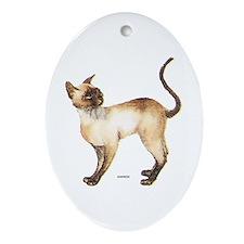 Siamese Cat Ornament (Oval)